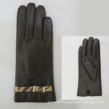 China's women winter genuine leather stylish leather gloves to lead