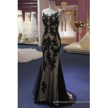 Black Lace Applique Beading Mermaid Wedding Dress Evening Dress