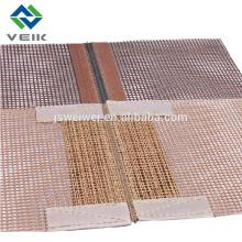 100% веик ткань с тефлоновым покрытием сетки ремень для конвейер
