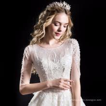 Alibaba vestido de novia de alta calidad una línea vestido de novia HA749B