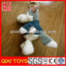 Novo design de brinquedos de chaveiro de lobo de pelúcia