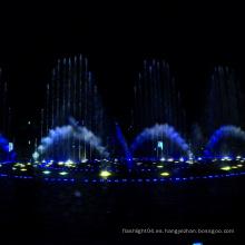 espectáculo de luz y agua al aire libre