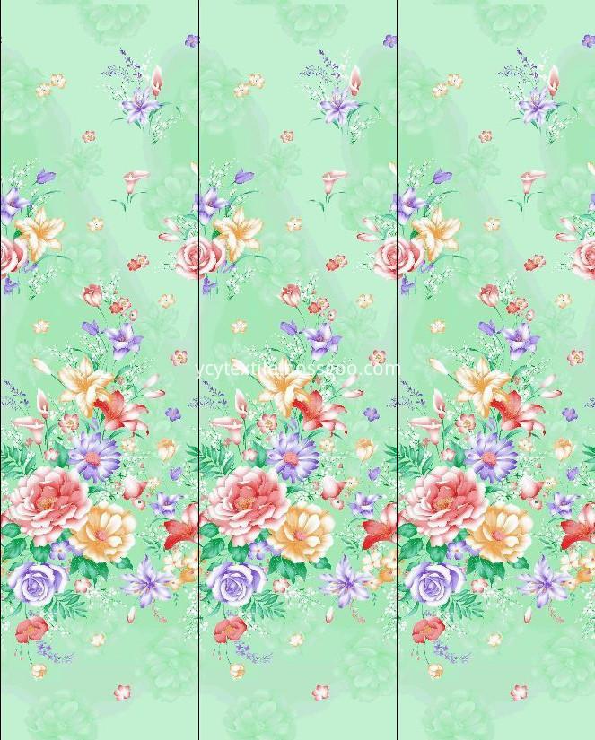 flower design cotton fabric