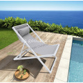 Chaise longue exterior de aluminio para patio