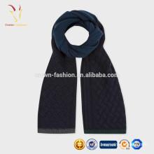 Тонкая мериносовая шерсть Толстой вязки кабель шарф дизайн шарф