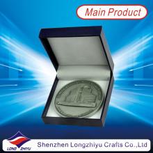 2013 Nueva moneda barata personalizada del medallón con la caja de papel, distribuidores antiguos de la moneda, monedero de plata antiguo de las monedas de plata del aniversario para el recuerdo