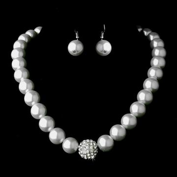 Faux White Baroque Pearl Necklace Costume Jewelry Sets