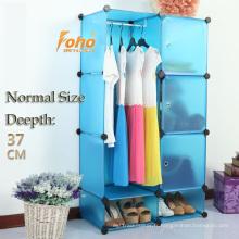 Cbinet de stockage bricolage en plastique bleu avec beaucoup de couleurs disponibles (FH-AL0523-3)