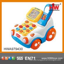 Engraçados montar brinquedo de plástico celular telefone bebê brinquedos imagens w / luz e música