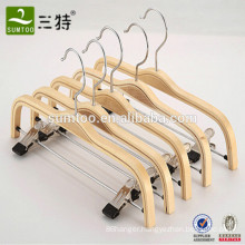 natural color laminated plywood  trousers pants hanger with clips