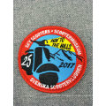 Heat Cut Custom Logo Embroidery Patch with Hot Melt Adhesive