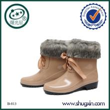 hot fancy rain boots pvc rain boots