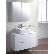 New MDF bathroom furniture Glass basin bathroom roller