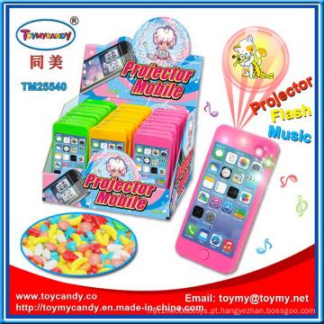 Projeção tela celular Musical brinquedo com doces