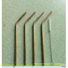 ss304 Golden Straws Gold plating stainless steel Straws