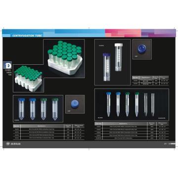 Certification CE et FDA 50ml 15ml Centrifuge Tube