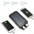 2 LED Light Portable Solar Power Bank