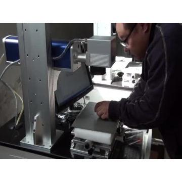 fiber laser birds ring marking machine/20w desktop fiber laser marking machine