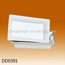 Wholesale square white porcelain ashtray