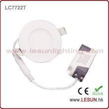 Luzes de painel redondas ultra magros do diodo emissor de luz de 3W 2835SMD / luz lisa LC7722t
