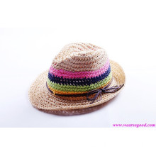 Wheat Straw Hat/Lady Straw Hat/Paper Hat (HYGZ005)