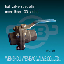 Válvula de bola Wcb de dos piezas reducida