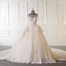 Sem mangas bal vestido de casamento 2017 Vestidos de novia 2017