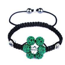 2013 pulseras católicas del rosario Forme a mano las pulseras mezcladas hechas a mano de Shamballa de la forma de la flor de la bola de cristal del color Barato BR01