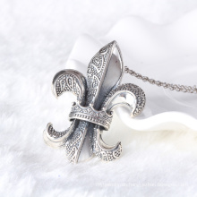 Weinleseartmarke Hearts 925 Sterlingsilber-silberne hängende Halsketten-Mannschmucksachen