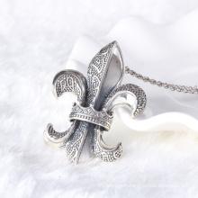 Vintage style marque Coeurs 925 sterling thai pendentif en argent collier bijoux hommes