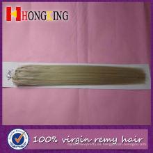 Extensión de cabello 100% Yaki Micro Loop Rings