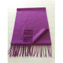 blend 50% cashmere 50% wool medium plain purple scarf
