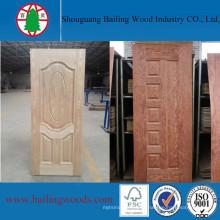 Шпон из разной древесины отлитая в форму HDF кожи двери