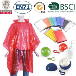 Promotion rain poncho with logo