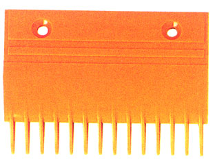 Yellow Comb Plate , Escalator Components / Parts