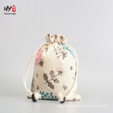 hot sale varied colorful linen drawstring pouch