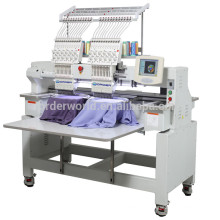 1502C-1202C 2 heads double heads flat cap tubular t shirt computer embroidery machine price