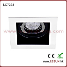 Empotrado Instal 12V MR16 LED Downlight / Foco con carcasa blanca LC7293