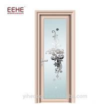Bathroom frosted glass panel aluminum door