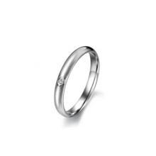 Anillo de cristal simple Fashinalble, anillo de plata con significado