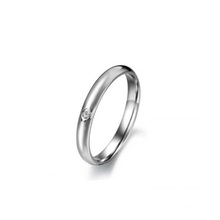 Fashinalble single crystal ring,meaningful silver ring