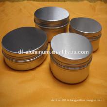 Flasques cosmétiques en aluminium couleur de meilleure qualité