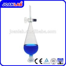 JOAN LAB Venta caliente pera separador embudo con tapón de vidrio
