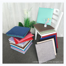 Good quality hard cotton inner chair cushion linen square cushion for adult