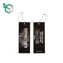 Fashion High Quality Paper Hang Tag For Garments
