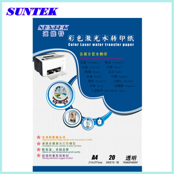 Best Quality A4 Laser Transparent Water Transfer Paper