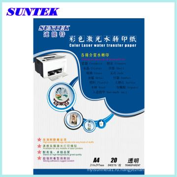 Вода Прозрачная водная лазерной передачи бумаги, деколь, меламин Papel передачи, передачи печати бумаги папье трансферт керамические таблички