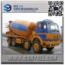 Camión mezclador de concreto 12 Wheeler North Benz 8000 Liter