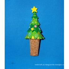 Rolhas de garrafa de resina de árvore de férias