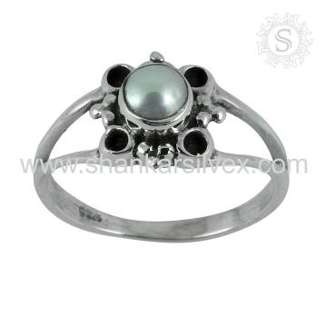 Новый узор жемчуг драгоценный камень кольцо ювелирных изделий ручной работы 925 серебряное кольцо ювелирные изделия поставщик